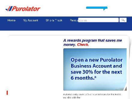 Purolator Inc (1-888-744-7123) - Website thumbnail - http://www.purolator.com