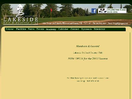 Lakeside Golf & Country Club (506-861-9441) - Website thumbnail - http://www.lakesidegolfclub.ca