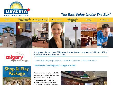 Days Inn Calgary South (403-243-5531) - Onglet de site Web - http://www.daysinn-calgarysouth.com
