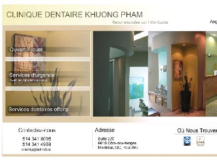 Clinique Dentaire Khuong Pham Cote des Neiges (514-341-8095) - Website thumbnail - http://cliniqkp.no-ip.org/