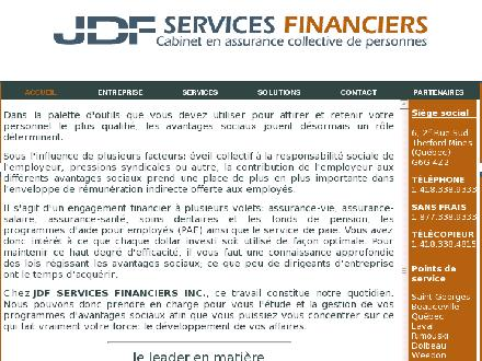 Assurances Collectives & Services Financiers JDF (418-338-9333) - Onglet de site Web - http://www.servicesfinanciersjdf.com