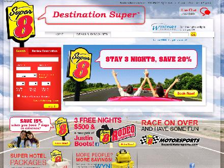 Super 8 Motel (403-343-1102) - Website thumbnail - http://www.super8.com