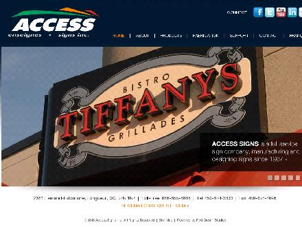 Access Signs Inc (1-888-655-6866) - Onglet de site Web - http://www.accessigns.com
