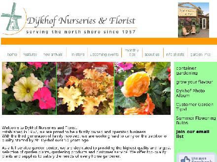 Dykhof Nurseries Ltd (604-985-1914) - Website thumbnail - http://www.dykhofnurseries.com