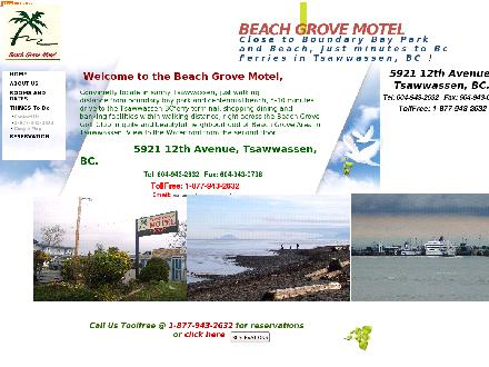 Beach Grove Motel (604-943-2632) - Onglet de site Web - http://www.beachgrovemotel.com