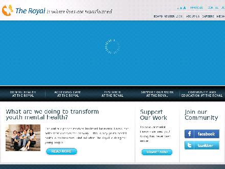 Royal Ottawa Mental Health Centre (613-722-6521) - Onglet de site Web - http://www.theroyal.ca
