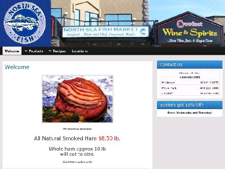 North Sea Fish Market (403-225-3460) - Onglet de site Web - http://www.northseafish.ca