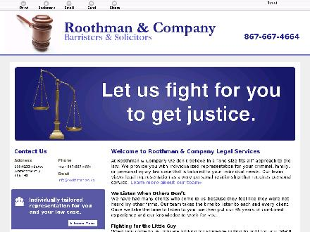 Roothman &amp; Company (867-667-4664) - Onglet de site Web - http://roothmanlaw.ca