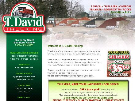 David T Trucking (519-754-0994) - Website thumbnail - http://www.tdavid.ca