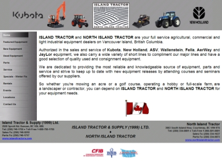 Island Tractor & Supply (1-888-795-1755) - Website thumbnail - http://www.islandtractors.com