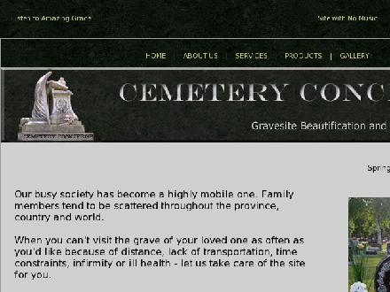 Cemetery Concierge (306-343-6375) - Website thumbnail - http://www.cemeteryconcierge.com