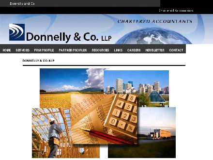 Donnelly & Co LLP (780-488-7071) - Website thumbnail - http://www.donnellyco.ab.ca