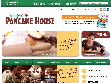 Original Pancake House The (204-775-9035) - Onglet de site Web - http://www.originalpancakehouse.ca