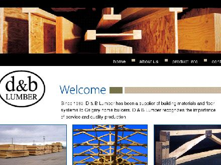 D & B Lumber & Supplies Calgary Ltd (403-236-9663) - Onglet de site Web - http://www.dblumber.com