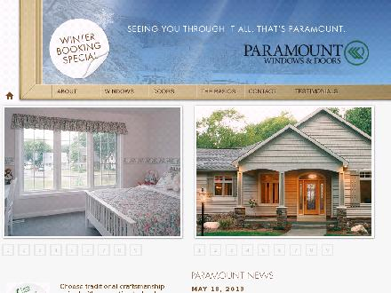 Paramount Windows (204-800-8339) - Onglet de site Web - http://www.paramountwindows.com