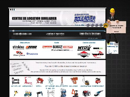 Bouladier Centre de Location (819-568-3492) - Onglet de site Web - http://www.locationbouladier.com