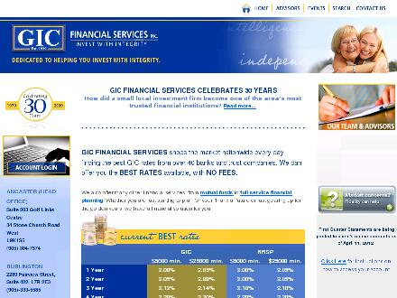 G I C Financial Services Inc (905-333-5585) - Website thumbnail - http://www.gicfinancial.com