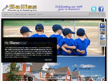 Salliss Plumbing & Heating (519-652-9955) - Website thumbnail - http://www.sallissplumbing.com