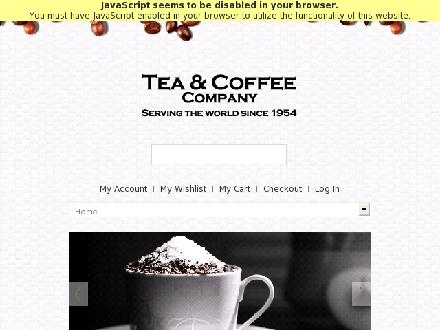 Tea And Coffee Company (780-424-6886) - Onglet de site Web - http://www.teaandcoffeecompany.com