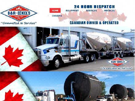 B &amp; R Eckel's Transport Ltd (403-234-1901) - Onglet de site Web - http://www.breckels.com