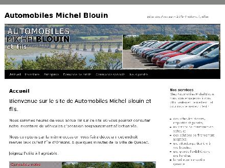 Automobiles Michel Blouin (418-828-9196) - Website thumbnail - http://www.automblouin.com