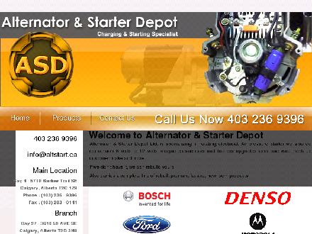 Alternator & Starter Depot Ltd (403-236-9396) - Onglet de site Web - http://www.alternatorstarterdepot.com