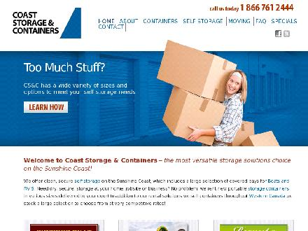Coast Storage & Containers (604-883-0803) - Onglet de site Web - http://www.coaststorage.ca