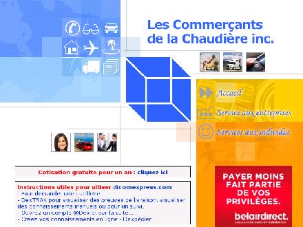 Commercants de La Chaudière (418-623-5320) - Website thumbnail - http://www.commercantschaudiere.com