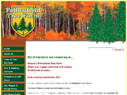 Fallowfield Tree Farm-Cut your own (613-720-3451) - Website thumbnail - http://www.ottawatreefarm.com