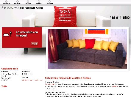 Sofa Unique (418-614-1500) - Onglet de site Web - http://sofauniquequebec.ca/
