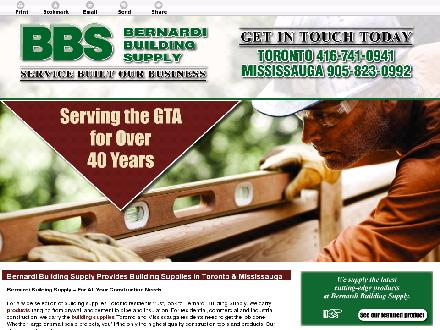 Bernardi Building Supply Ltd (289-814-1400) - Onglet de site Web - http://bernardibuildingsupply.com