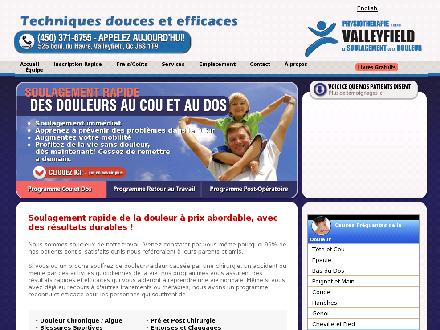 Physiothérapie (R. Henri) Valleyfield (450-371-6755) - Onglet de site Web - http://www.physiovalleyfield.com