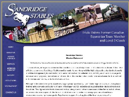 Sandridge Stables (780-922-7383) - Website thumbnail - http://www.sandridgestables.ca