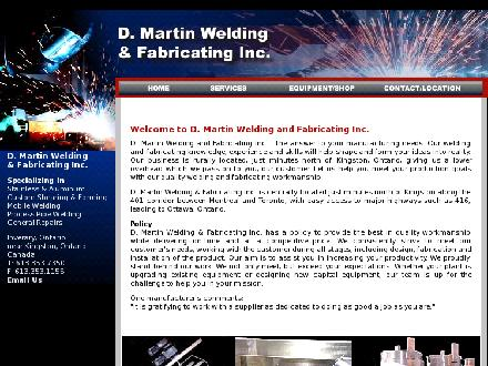 D Martin Welding & Fabricating Inc (613-417-0739) - Onglet de site Web - http://www.martinweldingfabricating.com