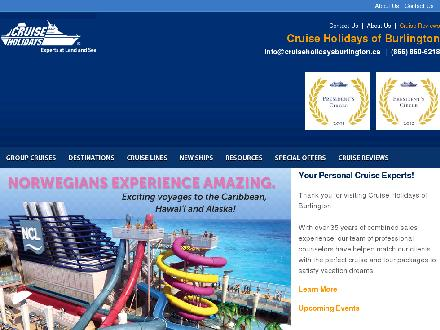 Cruise Holidays Of Burlington (905-332-4500) - Onglet de site Web - http://www.cruiseholidaysburlington.ca