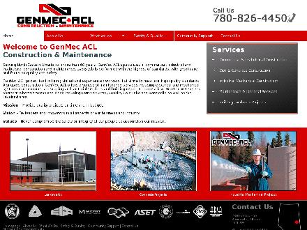 Genmec ACL Inc (780-826-4450) - Onglet de site Web - http://www.genmecacl.com