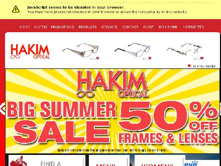 Hakim Optical - Website thumbnail - http://www.hakimoptical.ca