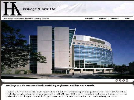 Hastings & Aziz Consulting Structural Engineers (519-439-0161) - Onglet de site Web - http://www.haeng.com