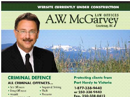 A W McGarvey Law Offices (250-338-9440) - Onglet de site Web - http://www.awmcgarveylaw.com