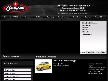 Brampton Chrysler Dodge Jeep (289-201-0237) - Website thumbnail - http://www.bramptonchrysler.com