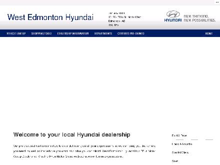 West Edmonton Hyundai (780-484-3311) - Onglet de site Web - http://www.westedmontonhyundai.ca