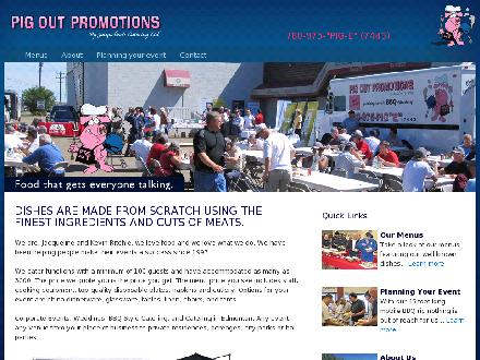 Pig Out Promotions (780-975-7443) - Website thumbnail - http://www.pigoutpromotions.ca