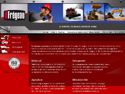 B Fr&eacute;geau &amp; Fils Inc (450-346-3487) - Onglet de site Web - http://www.bfregeau.com