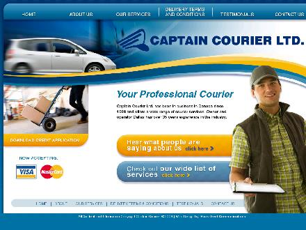 Captain Courier Ltd (780-435-2840) - Onglet de site Web - http://www.captaincourier.ca