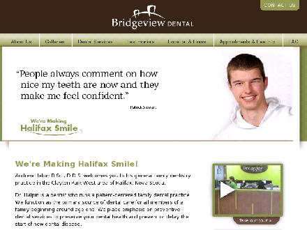 Bridgeview Dental (902-704-2941) - Onglet de site Web - http://www.smilehalifax.ca
