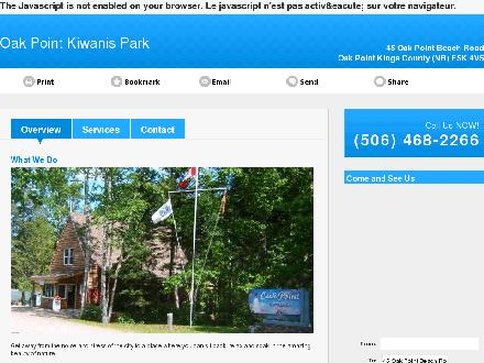 Oak Point Kiwanis Campark (506-468-2266) - Website thumbnail - http://oakpointkiwanispark.ca