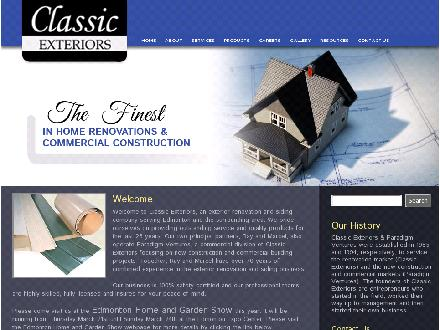 Classic Exteriors (780-410-8924) - Onglet de site Web - http://www.classicparadigm.com