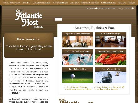 Atlantic Host Hotel & Convention Center (506-548-3335) - Onglet de site Web - http://www.atlantichost.com