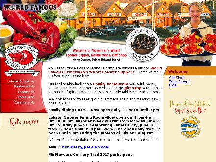 Fisherman's Wharf Lobster Suppers & Restaurant (902-963-2669) - Website thumbnail - http://www.fishermanswharf.ca