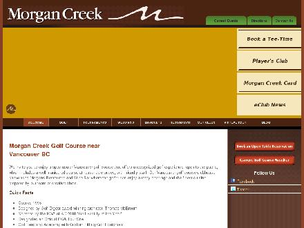 Morgan Creek Golf Course (604-531-4653) - Onglet de site Web - http://www.morgancreekgolf.com